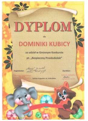 dyplom Dominika